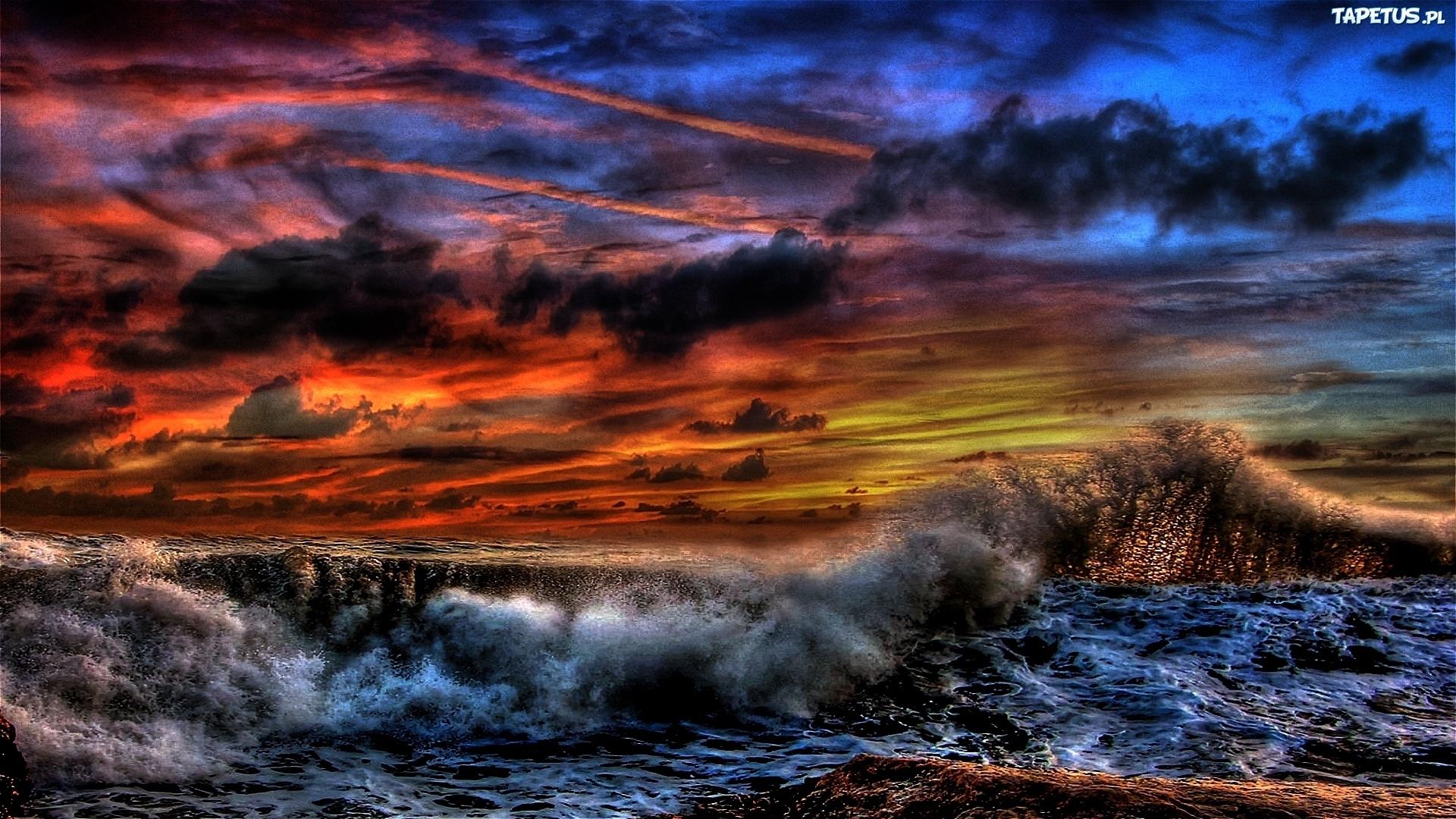морской закат перед бурей бесплатно